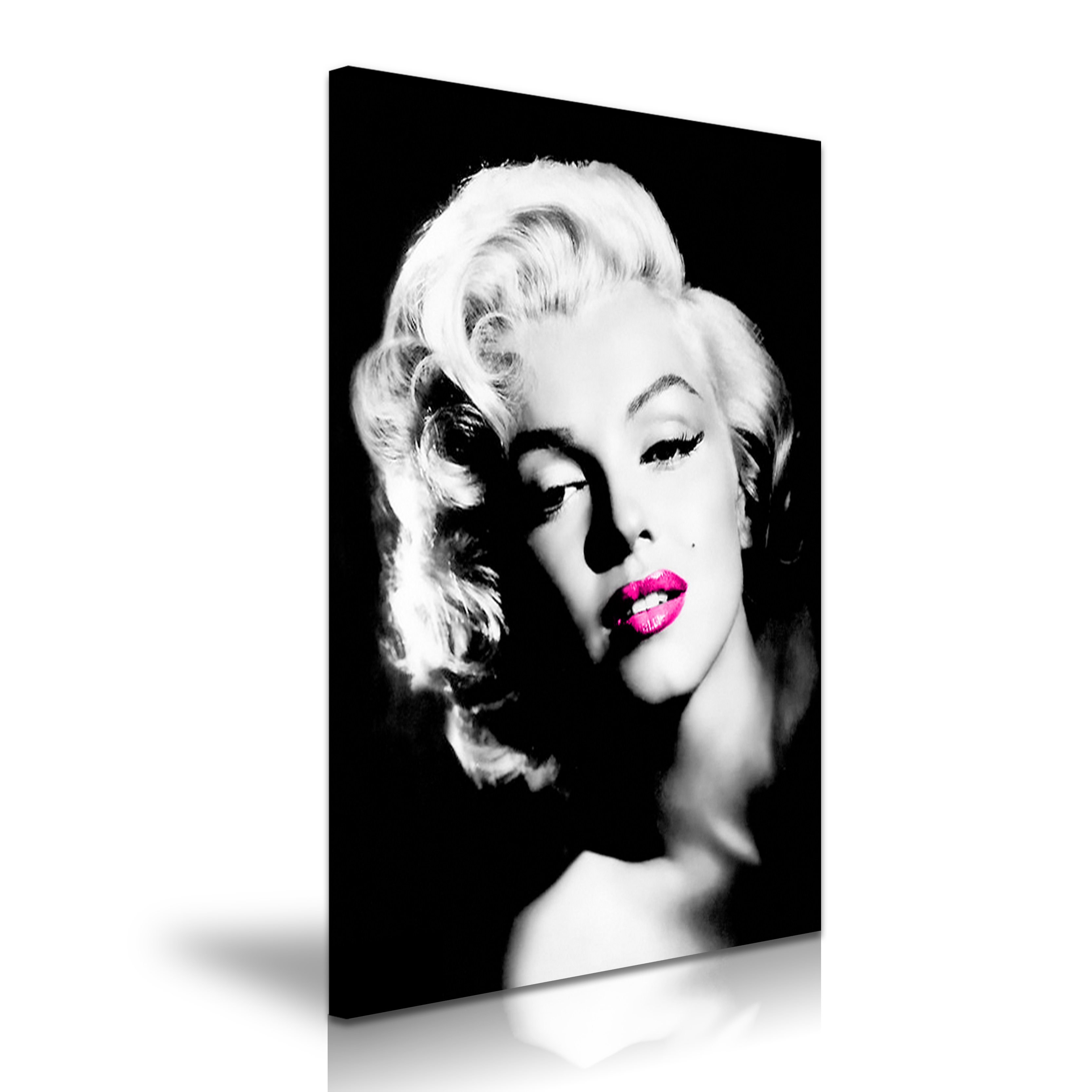 Marilyn Monroe Black And White Red Lips Download
