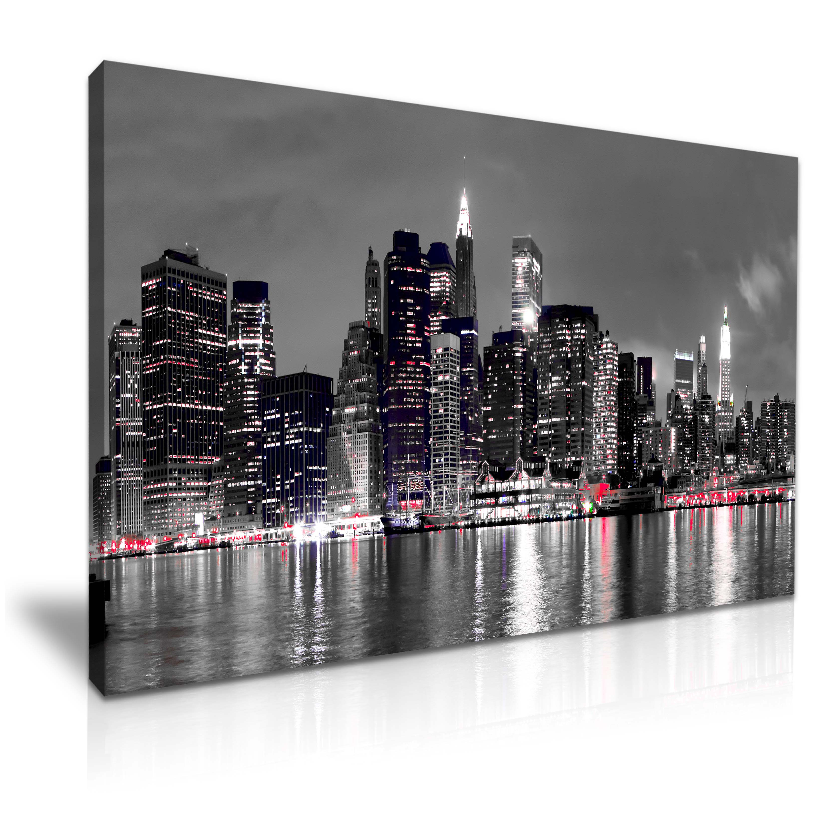 new york city skyline canvas wall art picture print. Black Bedroom Furniture Sets. Home Design Ideas